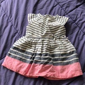 Carter's striped dress (6mos)